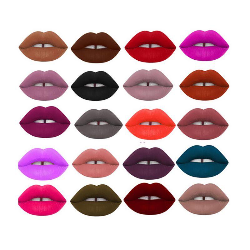Makeup Waterproof Matte Velvet Liquid Lipstick Long Lasting Lip Gloss Cosmetics Free Shipping