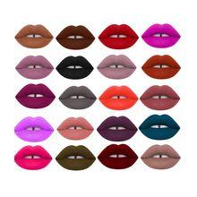 Women Makeup Waterproof Matte Velvet Liquid Lipstick Long Lasting Lip Gloss Cosmetics Free Shipping
