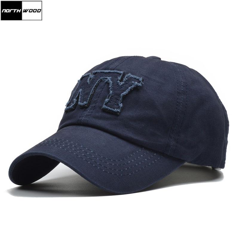 [NORTHWOOD] Brand Ny Letter Mens Baseball Cap Casual Dad Cap Women Casquette Homme Snapback Hip Hop Trucker Cap
