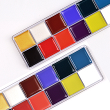 12 Colors Body Face Oil Paints professional DIY Painting Oil Art make up use in face or body