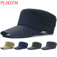 PJ.SDZM 2PCS/LOT New Arrival Lengthened Eaves Quick Dry Breathable Hat Men's Breathable Sunshade Hat Leisure Travel Hats