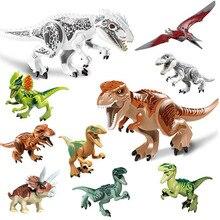 Blocos de Construção de Dinossauro do jurássico Tiranossauro Dinossauro Figuras Bricks Compatível com Legoe Mundo Jurássico Dinossauro Brinquedos Presente