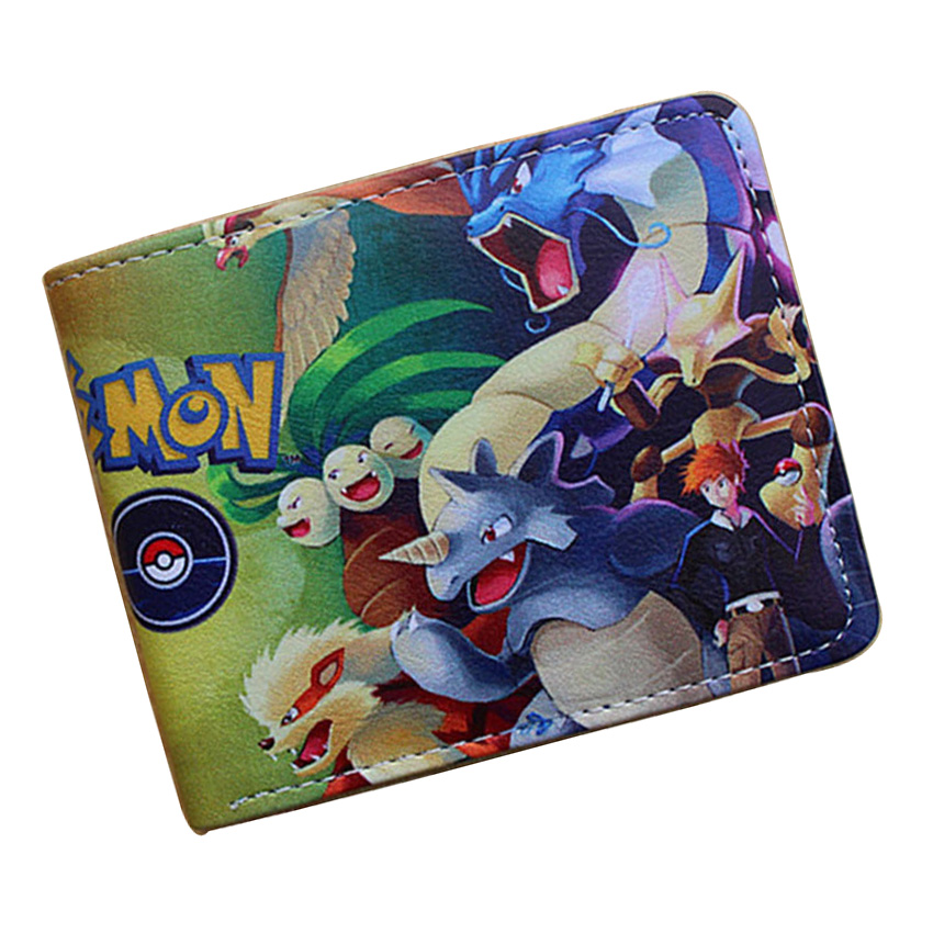 Pocket Monster Pikachu Poke Ball Wallets Pokemon Game Creative Gift Purse Popular Cartoon Boy Girl Dollar Bags Card Short Wallet pocket monster pokemon poke ball plush stuffed toy soft pillow 40cm