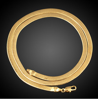 18k Gold Plated Herringbone ChainSnake Chain Mens Jewelry Unisex Gift Iced Out Hip Hop Necklace Free