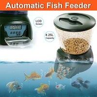 4.25L программируемый автоматический податчик для рыбы цифровой дозатор корма для домашних животных для аквариума бак Koi пруд таймер кормушк...