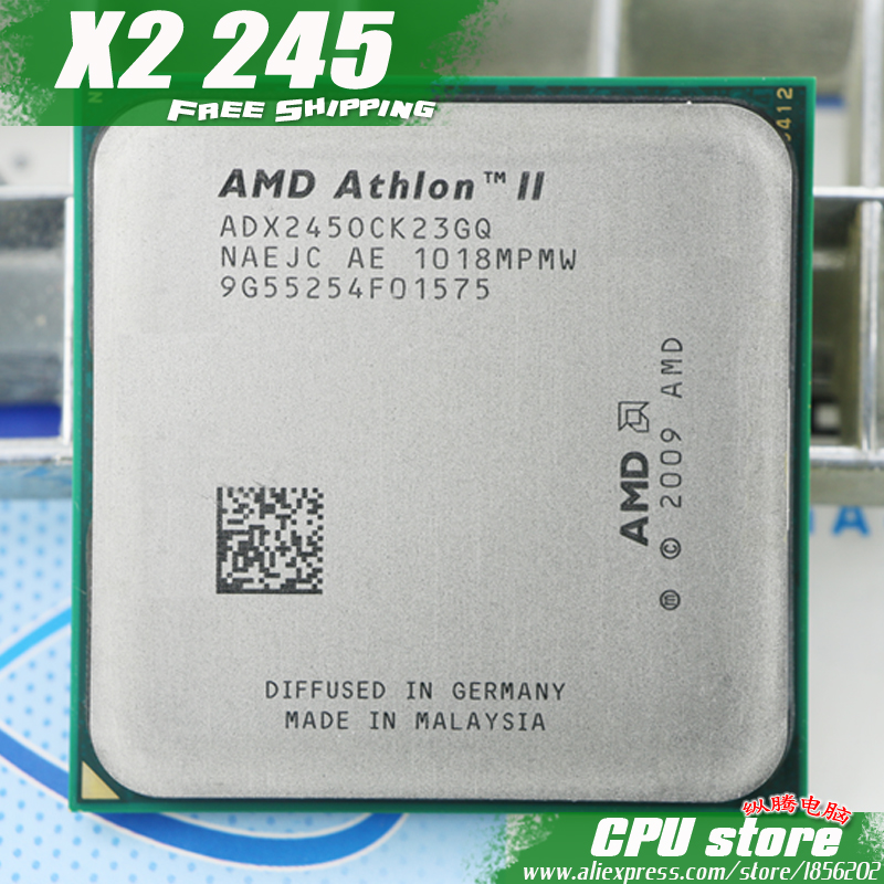 Процессор AMD Athlon II X2 245 Процессор процессор (2.9 ГГц/2 м/2000 ГГц) socket AM3 AM2 + бесплатная доставка 938 pin, есть, Продаем x2 240 Процессор