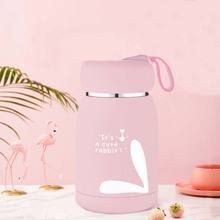 Lovely Cartoon Rabbit Printed Thermos Cup Mini 320ML Portable Cute Dot Vacuum Flasks Durable Stainless Steel Bottle