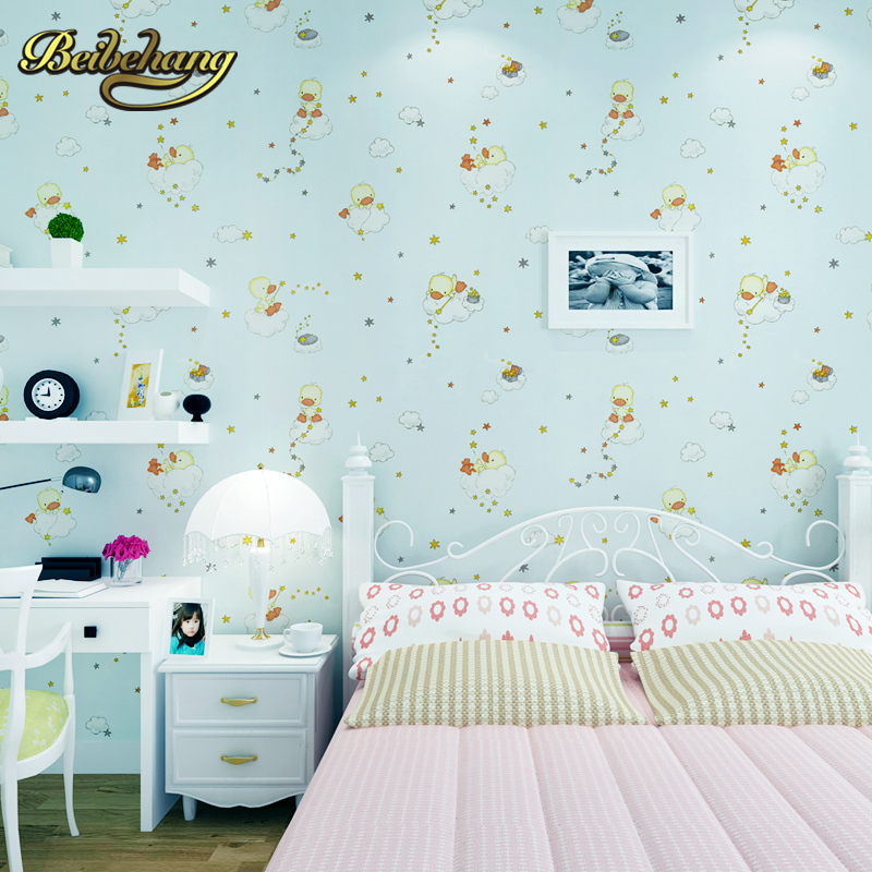 beibehang wall paper. Pune Korean girl room backdrop bedroom children's room shop for environmental non-woven wallpaper shipping beibehang pure non woven wallpaper fresh korean style small floral wall paper bedroom living room children s room papier peint