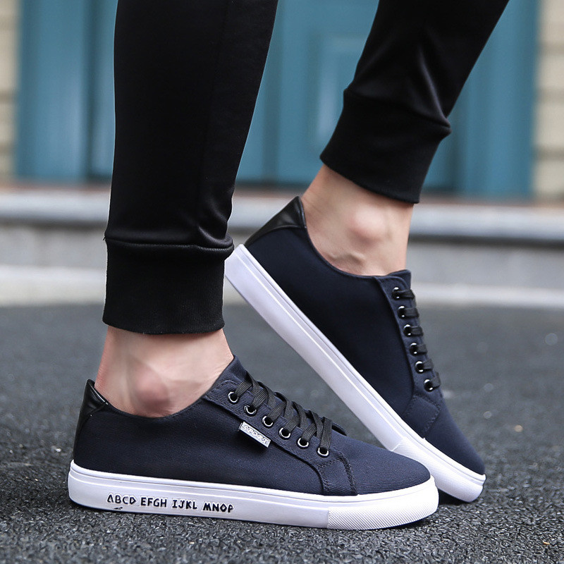 Men Casual Shoes 2019 Canvas Breathable Walking Chaussure Homme Factory Sales 39-44