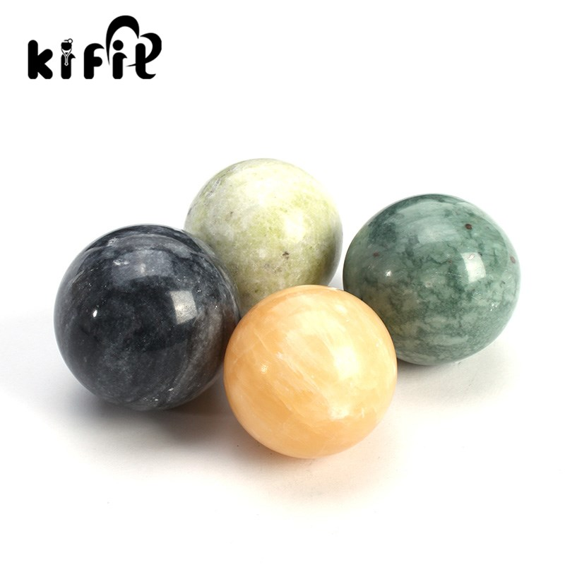 KIFIT Natural Stone Massage Health Ball Exercise Meditation Stress Relief Handball Fitness Ball Natural Health Care Product kifit 2x chinese baoding balls fitness handball health exercise stress relaxation therapy chrome hand massage ball 38mm