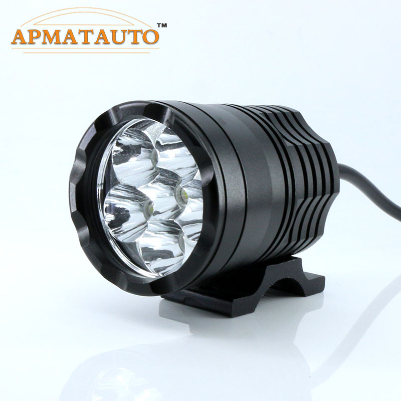 2X Car Moto White 6000K 15600LM T6  Chips LED Motorcycle Headlight Fog Spot HeadLamp Spotlight Waterproof  Motorbike Bulb