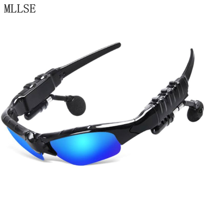 Anime Hatsune Miku Sun Glasses Headphone Bluetooth 4.1 Stereo Music Headset Sport Wireless Earphone for Iphone Samsung HTC MP3 wireless headphones sunglasses stereo music sun glasses headset handsfree earphone for outside