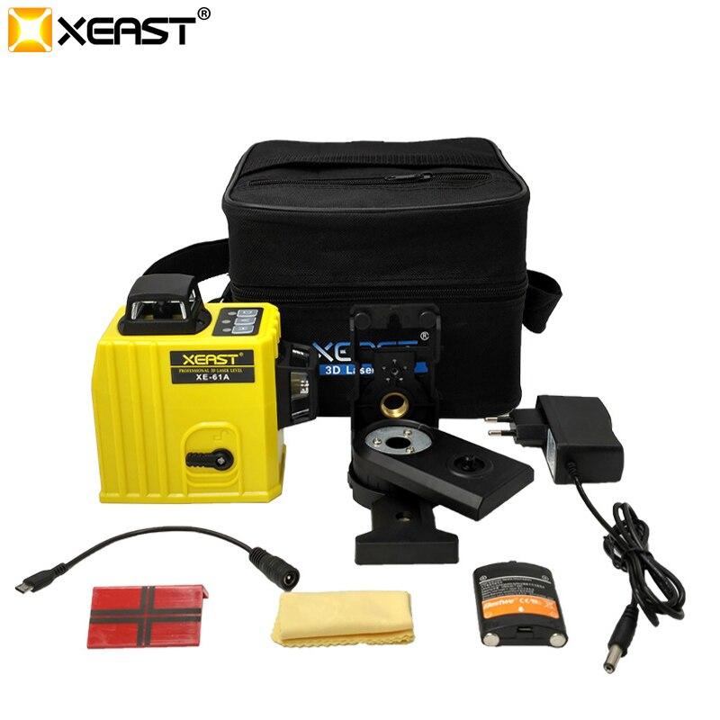 XEAST XE-61A 12 linie 360 Selbst nivellierung Kreuz Linie 3D Laser Ebene Roten Strahl Super Laser Ebene