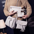 4 Bags set handbags woman leather handbag shoulder bags Pu Leather Women Messenger Bags ladies hand bags 2017 Clutch Tote Bolsas