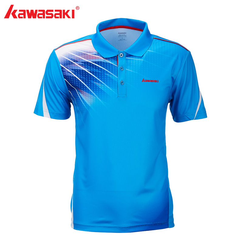 Original Kawasaki Brands 2018 New Men Polo Shirts Short Sleeve Quick Dry Polyester Mens Tennis T-Shirt Sports Clothing ST-T1011
