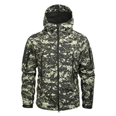 Tactical Jacket Coat Windbreaker Soft-Shell Military Army Waterproof Winter Mens Fleece