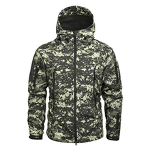 купить Winter Mens Army Camouflage Jacket Fleece Coat Military Tactical Jacket Windbreaker Hunt Clothes Waterproof Soft Shell Jackets дешево