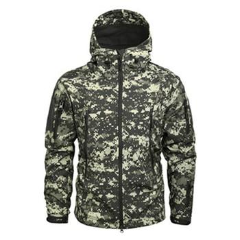 Winter Mens Army Camouflage Jacket Fleece Coat Military Tactical Jacket Windbreaker Hunt Clothes Waterproof Soft Shell Jackets