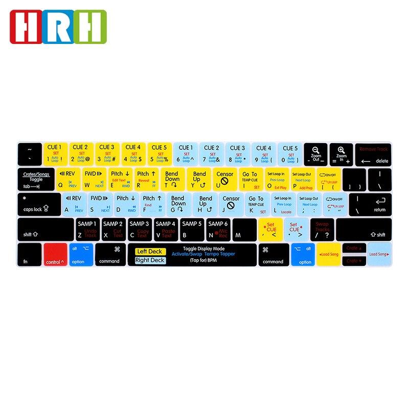 SAR Serato Scratch LIVE Fonction Raccourci Raccourci Silicone Clavier Clavier Numérique De Couverture Peau pour Macbook Pro 13 15 Tactile bar A1706/A1707