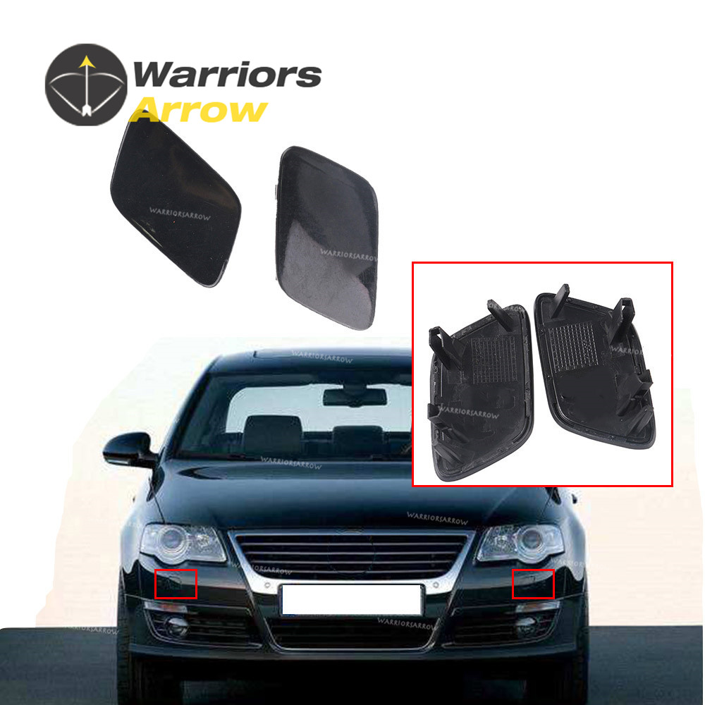 Car Front Bumper Headlight Washer Spray Nozzle Cap Cover Replacement Protection Driver Side