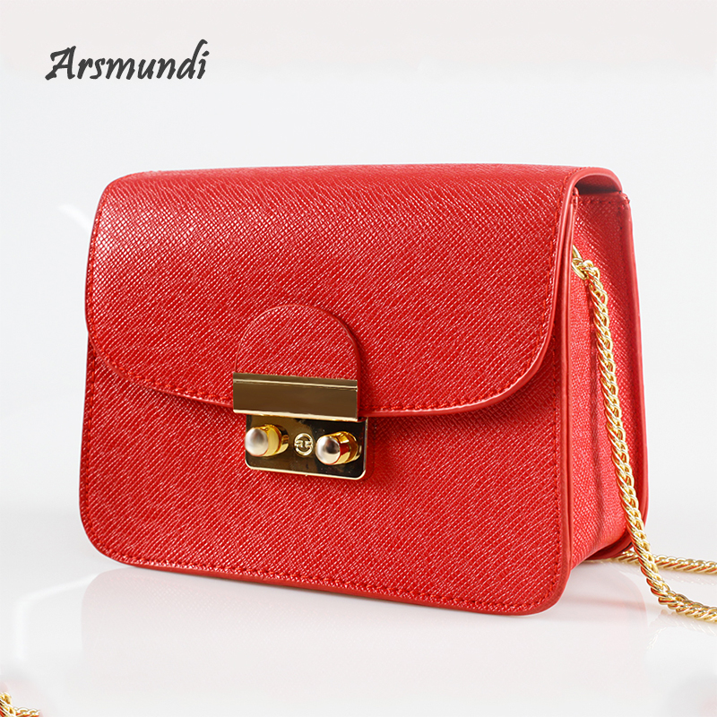 Arsmundi New Women Chain Solid Bag Designer Brand Purses And Handbag Fashion Women's Clutch Summer Shoulder Bags for Women 2018
