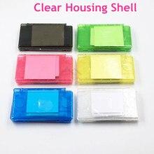 Şeffaf Beyaz/Siyah Konut Shell Kapak Kılıf Tam Set Değiştirme Için Nintendo DS Lite NDSL için Oyun Konsolu Vaka kapak