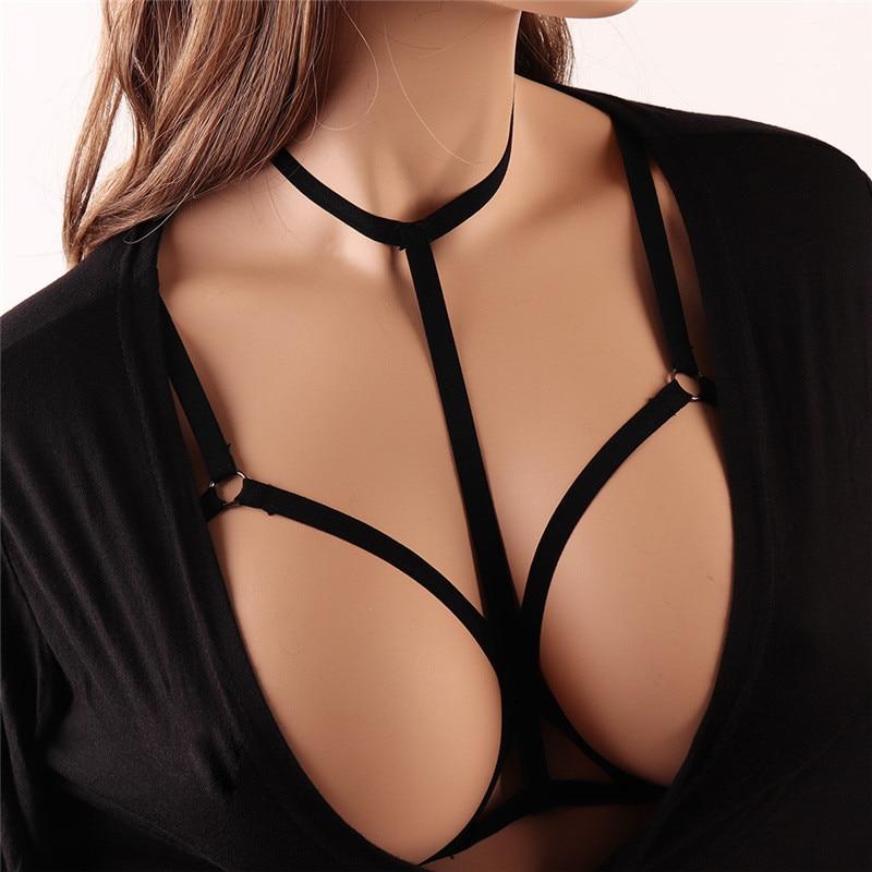 Sexy Lingerie Bra Bandage Open Cup Bra Bust Chest Line Plus Size Lingerie Erotic Underwear Porn Costumes Feminine Wire Cage