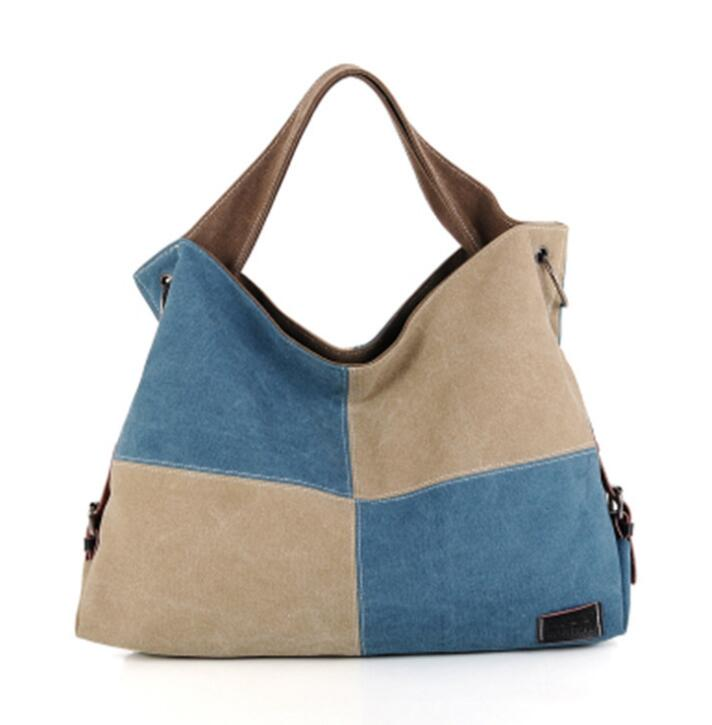 Frühling neue Leinwand Schulter Tasche Handtasche über große kapazität-in Taschen mit Griff oben aus Gepäck & Taschen bei  Gruppe 1