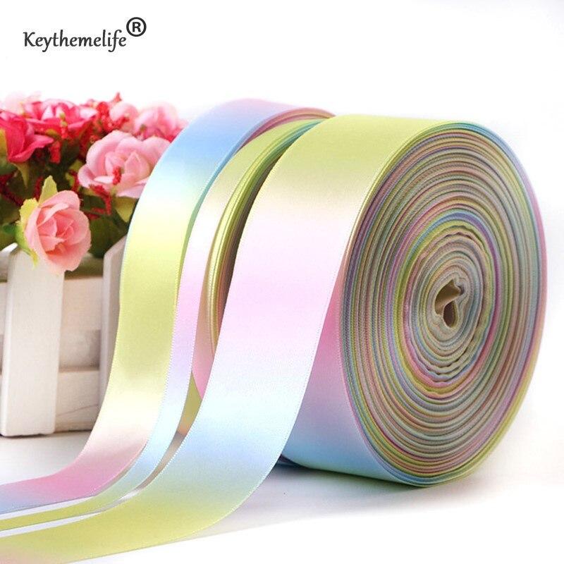 Keythemelife Geschenk Verpackung Band 50 Yards/roll Licht Regenbogen ...
