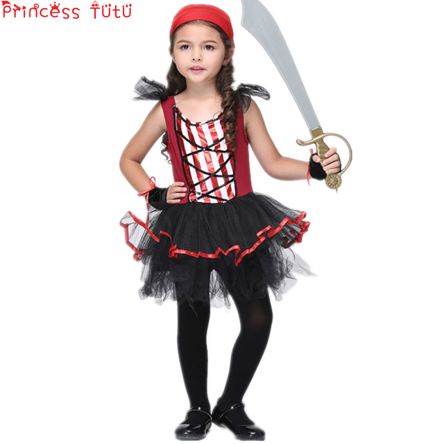 liquidazione a caldo così economico imballaggio forte US $15.62 39% di SCONTO|PRINCESS TUTU Bambini Vestiti per Ragazze Set di  Fantasia Vestito Da Pirata Up Pirate Costume Cosplay Doccia Vestiti Da ...