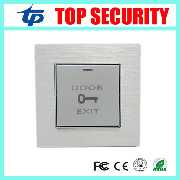 Good quality metal aluminium alloy push exit button door access control exit switch door release button lpsecurity stainless steel door access control led backlit led illuminated push button door lock release exit button switch