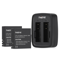 Original ThiEYE Dual Battery Charger With Two 1100mAh Batteries For T5e T5 Action Camera