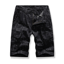 MarKyi 2019 summer fashion man short pants cotton plaid print cargo shorts men plus size pocket slim