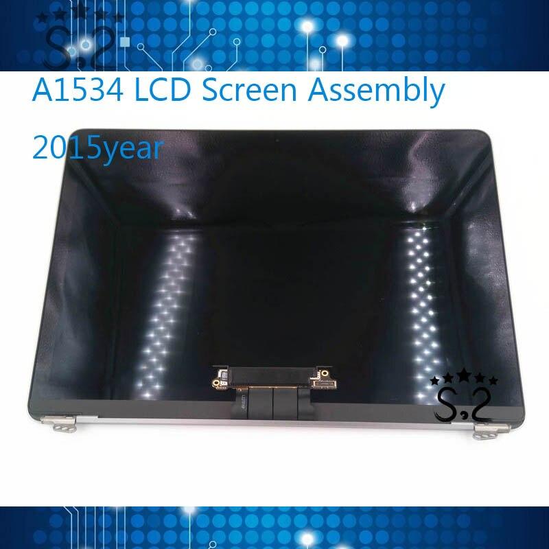 100% Nouveau A1534 LCD Assemblée D'écran Pour Macbook 12 A1534 lcd Full écran 2015 Année
