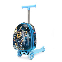 TRAVEL TALE 15Inch ABS Rolling Skateboard Luggage Travel Suitcase Spinner Trolley Bag on Kids Luggage