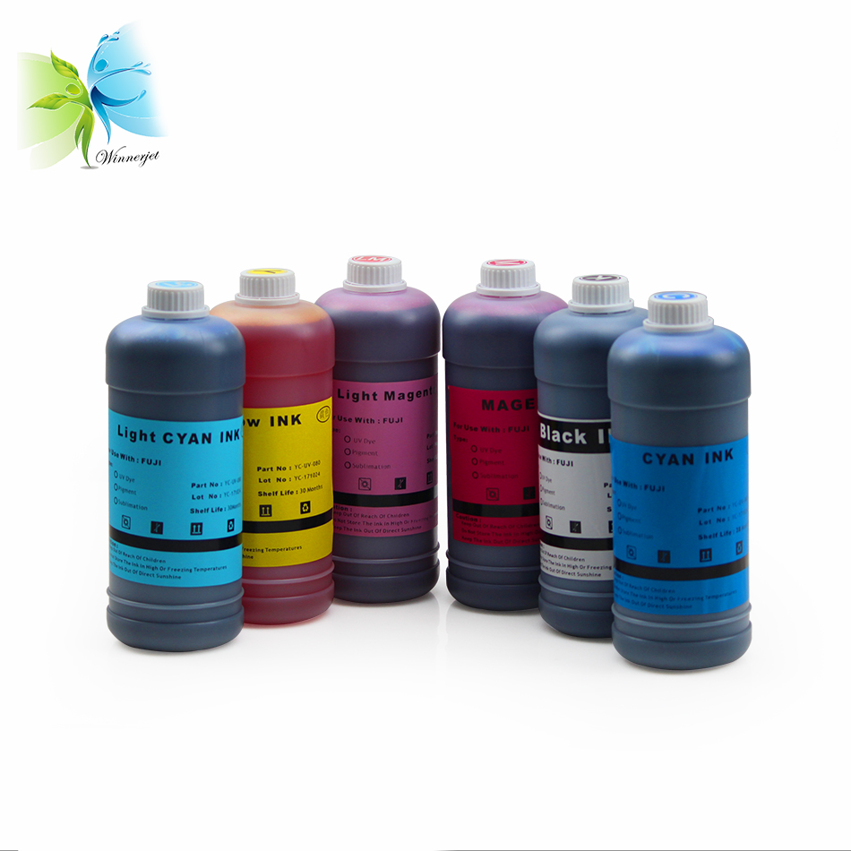 WINNERJET 1000ml 6 Colors Ink Refill Kit Dye Ink For Fuji DX100 Printer in Ink Refill Kits from Computer Office