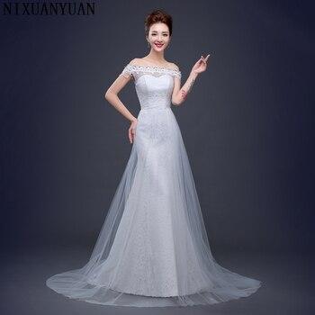 NIXUANYUAN Free Shipping Cheap Lace Mermaid Wedding Dresses 2017 Plus Size Wedding Gowns Bridal Dress Vestido de Noiva Sirena
