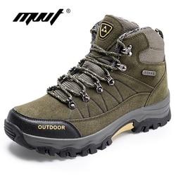 Super Warm Men Winter Boots Quality Suede Men Boots Fur Plush Snow Boots Winter Shoes For Men Outdoor Boots Shoes Plus Size 46