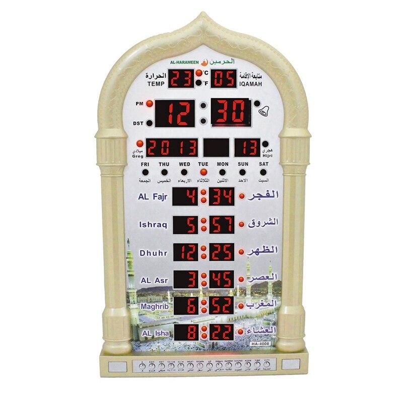 HOT musulman priant islamique Azan horloge de Table Azan réveils 1500 villes Athan Adhan Salah horloge de prière Eu Plug