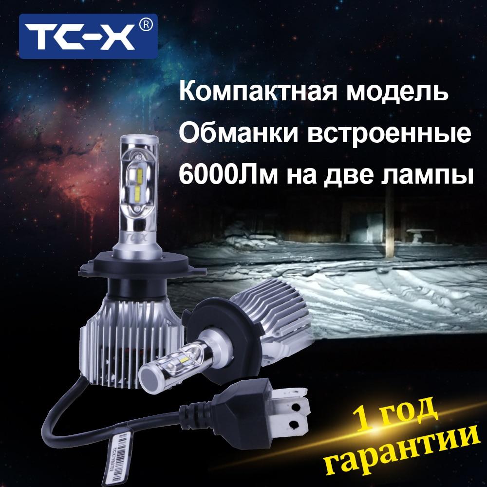 TC-X H4 H7 Led Autoscheinwerfer H11 9005 9006 H1 HB3 HB4 HB2 Auto Licht Led-lampen H8 Flip Chips Auto Ersatzlampe 2 stücke Plug & Play