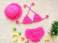 Nowości Słodkie Koronki Dzieci Pływanie Bikini Set Dziewczynek Bowknot Stroje Kąpielowe Bikini Strój Kąpielowy Strój Kąpielowy Plaża Stroje Kąpielowe
