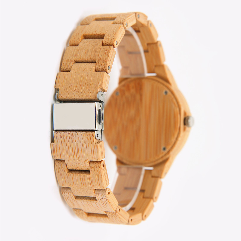 06 Kvinder Ur Luksus Dameure ure Wood Watch Analog Quartz Light - Dameure - Foto 6