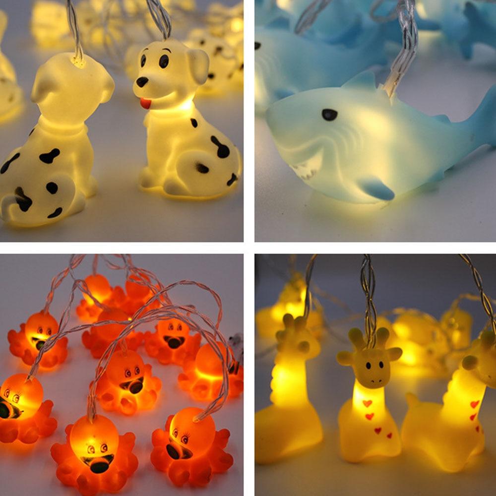 LED 1.8M Festival Lights String Animals Shark Shape indoor String Lighting Battery Powered Cute Decor Outdoor Party light P20
