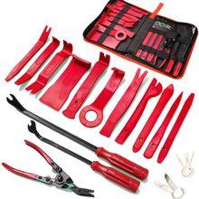 19 pçs ferramenta de remoção guarnição da porta do painel do carro kit de ferramentas de remoção de aparas de áudio clipe automático alicate prendedor removedor conjunto de ferramentas