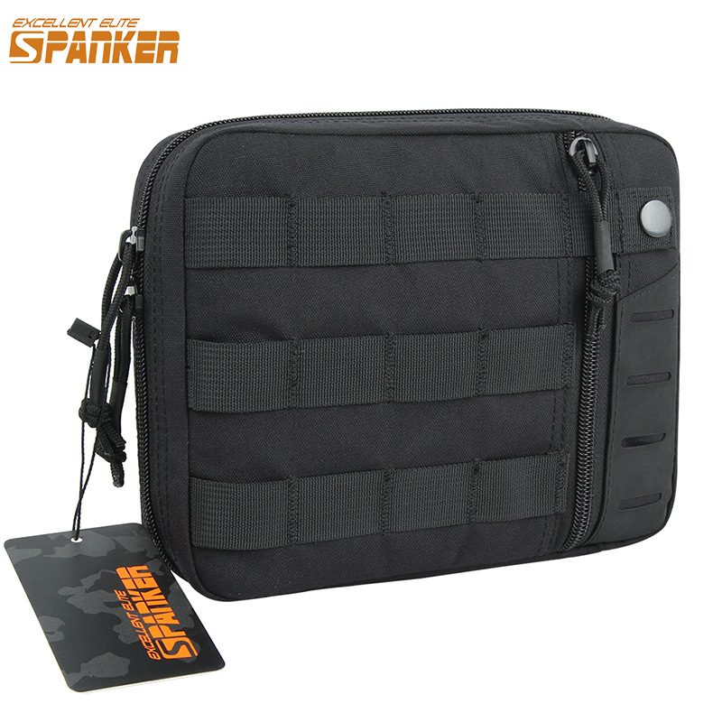 EXCELLENT ELITE SPANKER Military Multipurpose Nylon EDC Bags Outdoor Tactical Molle Waist Tools Bag Solid Hunting Zipper Pouch airsoft tactical bag 600d nylon edc bag military molle small utility pouch waterproof magazine outdoor hunting bags waist bag