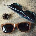 Лето в стиле ручной работы vintage скейтборд дерево солнцезащитные очки поляризованные деревянные люнет de soleil homme femme 8003