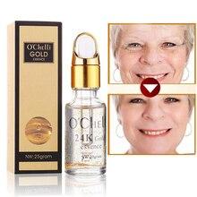 Pure 24K Gold Essence, Anti Wrinkle Face Care Collagen Moisturizing Hyaluronic Acid