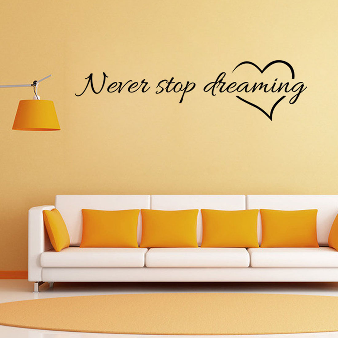 Hot Never stop dreaming wall stickers bedroom quarto decorative ...