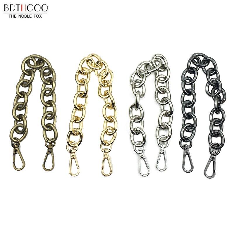 Hot Sale 5pcs/lot 30cm Replacement Metal Chain For Handle  Bag Chain Handbag Antique Bronze DIY Bag Strap Accessories Hardware