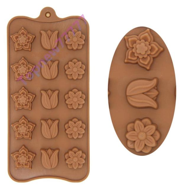 Tulip Plum Flower Silicone Bakeware Fondant Cake Decorating Chocolate Mold Pastry Cooking Tools